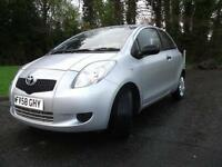 2008 58 TOYOTA YARIS 1.0 T2 VVT-I 3D 69 BHP ** PART EXCHANGE WELCOME**