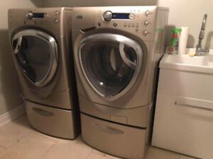 GE Washer and Dryer Model  Model #: WPDH8900J1MG
