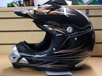 Brand New, ZEUS MotoCross Helmet (Gloss Black / Ghost Design)