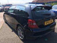 Honda Civic 2.0i Type R 81,000 miles & 3 previous owners, totally standard car