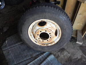 225/75R16 tire and 1 ton rim for sale