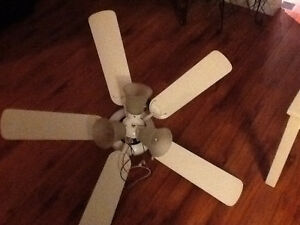 White ceiling fan, great condition!!!