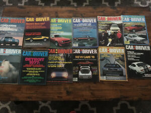 Vintage Car and Driver magazines