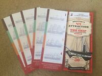 X2 Adult & 3 Children SS Great Britain Tour Tickets - Valid for 1 Year
