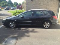 Peugeuot 407 SW 55 plate