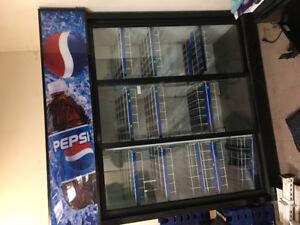 3 Door Pepsi Fridge