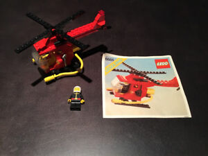 LEGO City 6685 Fire Copter 100% Complete