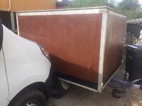 "Brenderup braked box trailer 6ft 4"" X 4ft X 5ft wide"