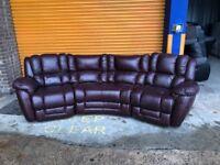 LAZ Z BOY AUGUSTA Electric corner reclining leather sofa ex display model