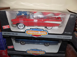 1957 Chevy Bel Air American Muscle 1:18  die cast and more.