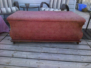 Vintage, Hope Chest, Storage Bench, Seating, Ottoman, Antique