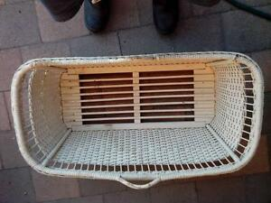 ANTIQUE Wicker Basket, good for cats, dog or LAMBS, IN HORSHAM
