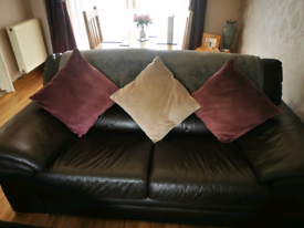 3 & 2 seater sofa with footstool