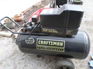 Compresseur Craftman modèle 6hp/33gal