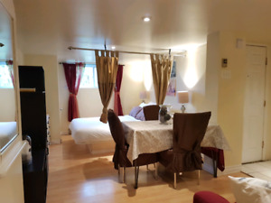 Furnished apartment for short or long term stay!