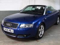 2004 04 AUDI A4 CABRIOLET 1.8T 162 BHP QUATTRO SPORT 6 Spd.MANUAL LEATHER 2 Prev