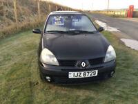 2005 Renault Clio 1.2 16v Dynamique Petrol 3 Door Black NEW MOT WITH CAR.