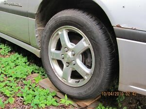 Alloy rims and tires fitting 2003 Chev Impala