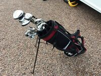 Full set of Dunlop max golf clubs with bag. Right handed.