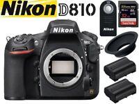 Nikon D810 BIG Bundle - Body + Extras, Excellent Condition, Original Packaging + Accessories + MORE