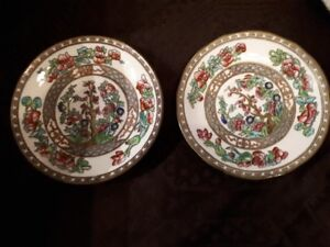 Coalport Indian Tree China - set of two saucers