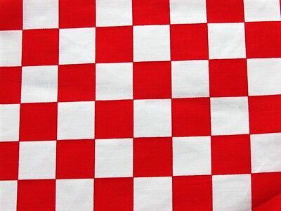 red white checker board retro pop flag