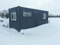24' insulated office sea container on skid FOR RENT