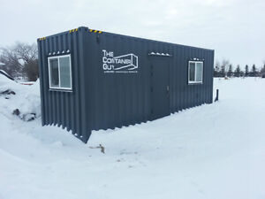 Like new 24' insulated office sea container on skid FOR RENT