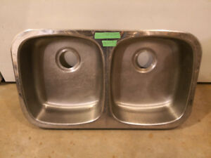 """Stainless Steel Double Sink 31-1/4"""" x 18-1/4"""""""