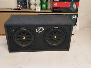 "2 10"" kickers in ported box"