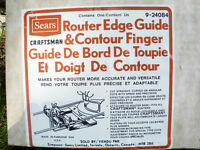 NEW FITS ALL SEARS CRAFTSMAN ROUTER EDGE GUIDE CONTOUR FINGER