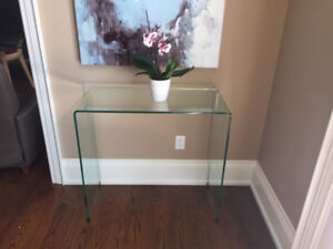 Bent Glass Console/Entry Table
