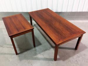 2 Tables Mobël Intarsia Bois de Rose - 2 Vintage Danish Tables