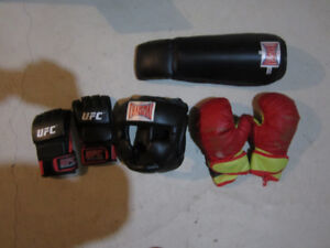 High quality Thaismai and UFC protective gear and boxing gloves