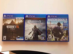 Resident Evil 7 VR, Watch Dogs 2, AC Ezio Collection PS4