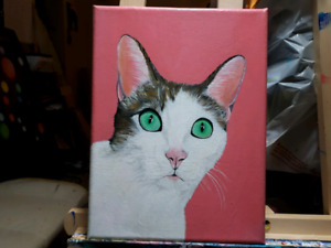 Personalized Pet Portraits - Acrylic Painting