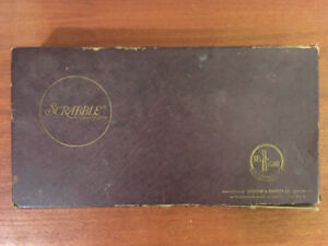 Antique Scrabble Board Game (40's- early 50's)
