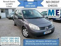 **£35 A WEEK** Renault Scenic 1.4 Authentique, 12M MOT, 5DR MPV, EW CD RCL