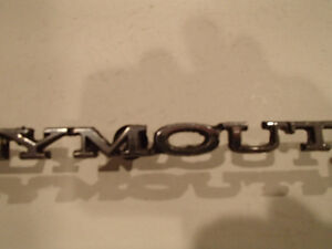 PLYMOUTH Script Emblem 1968-81 Plymouth Grill/Hood/Trunk/Bumper Sarnia Sarnia Area image 4