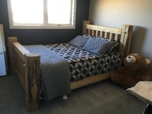 Custom Log Bed Frames