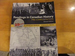 Readings in Canadian History 7th edition  by Francis/Smith