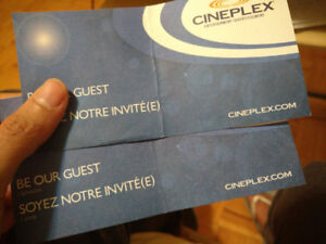 Two movie passes, $25. Good for cineplex, any movie