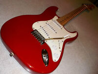 fender stratocaster standard series squier fiesta red big head