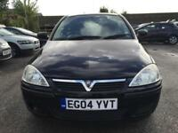 2004 Vauxhall Corsa Hatch 3Dr 1.0 12V 60 Energy Petrol black Manual