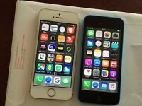 iPhone 5s 16gb Unlocked, 5c 16gb on EE