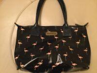 Brakeburn Navy & Pink Flamingo Bag with zip closure