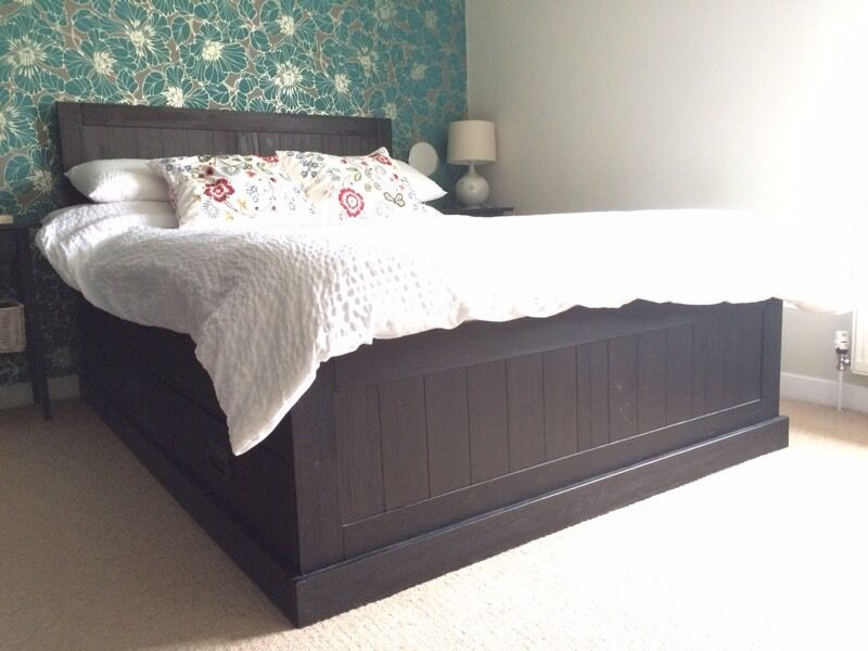 ikea fjell double bed frame in st albans hertfordshire gumtree. Black Bedroom Furniture Sets. Home Design Ideas