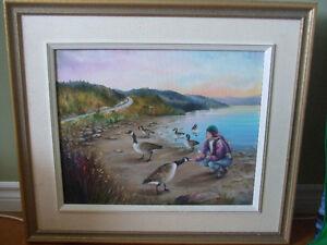 """Peinture """"visite du mois d'avril"""" à vendre"""