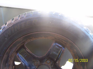 Set of 4 Steel winter rims with tires Cornwall Ontario image 6