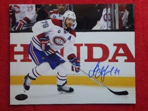 ANDREI MARKOV Montreal Canadiens Autographed 10x8 Photo W/COA